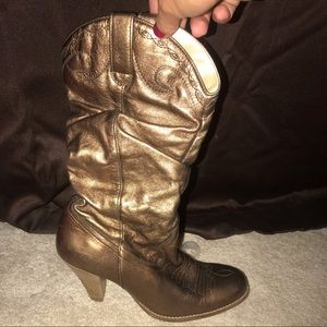 Lightly worn Jessica Simpson Bronze cowboy boots
